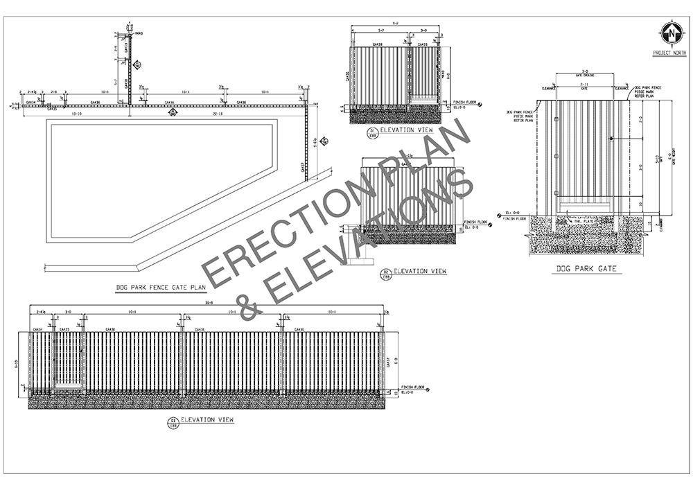 erection plan and elevations