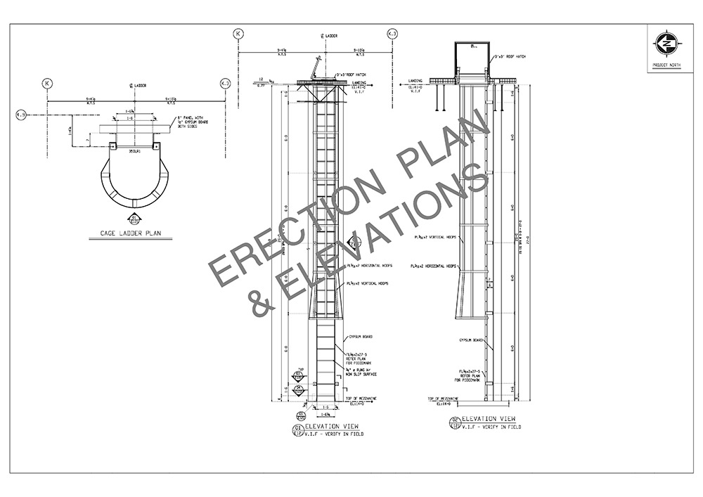 erection plan and elevation