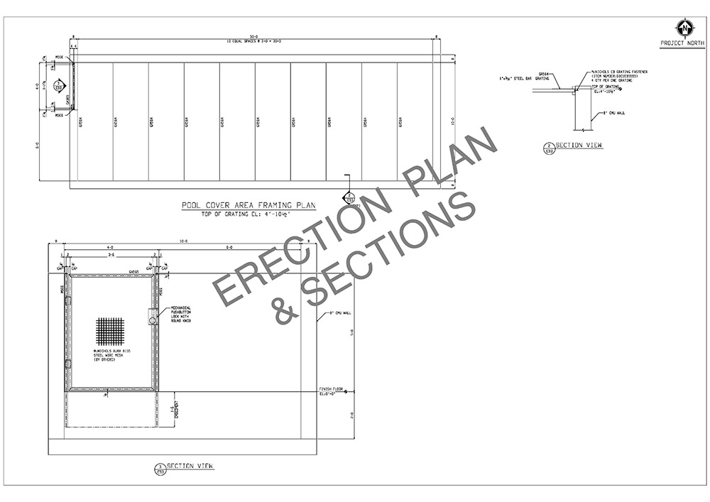 erection plan and sections