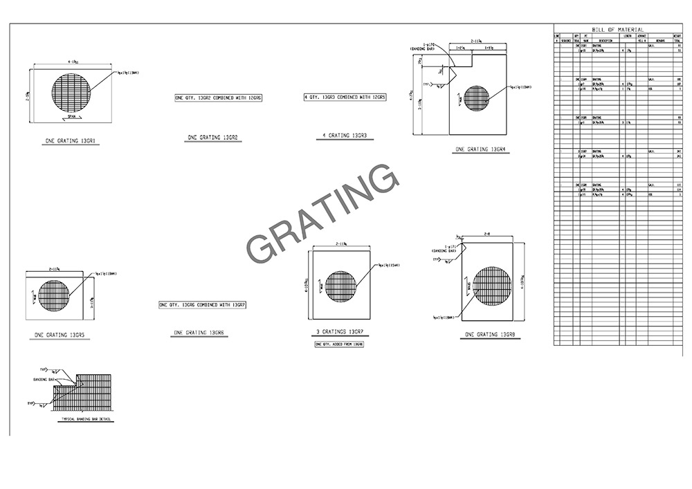grating