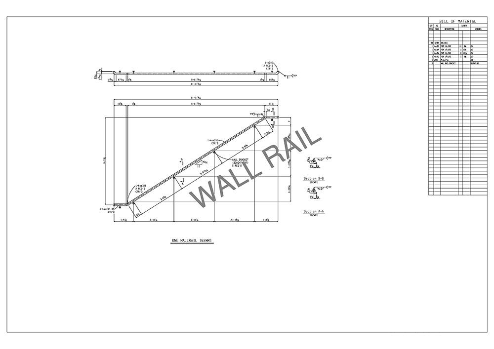 wall rail